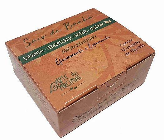 Arte dos Aromas Sais de Banho Efervescentes Aromatherapy Lemongrass com 12 un