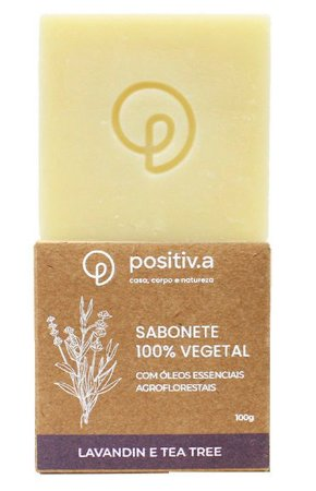 Positiv.a Sabonete Vegetal Lavandin e Melaleuca 100g