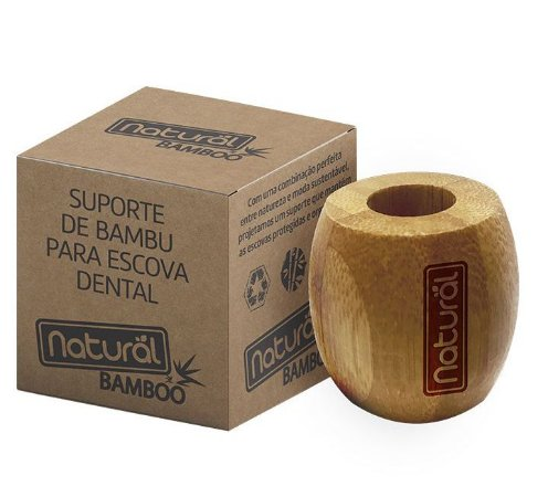 Suavetex Natural Suporte de Bambu para Escova Dental 1un