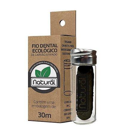 Suavetex Natural Fio Dental Ecológico de Carvão Ativado