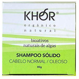 Khor Shampoo Sólido Cabelos Normais a Oleosos 80g