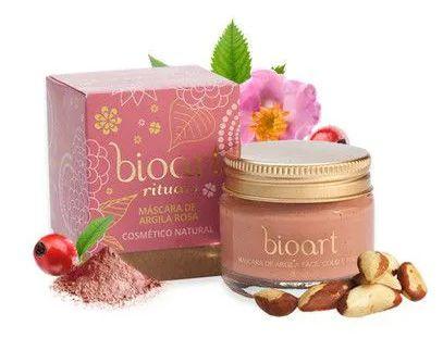 Bioart Máscara Bionutritiva Renovadora (Regeneradora) Argila Rosa e Rosa Mosqueta 30ml
