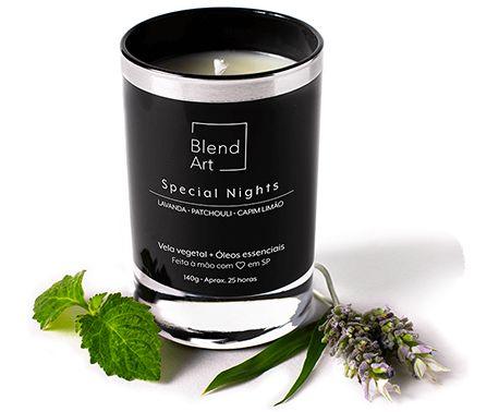 Blend Art Vela Vegetal Special Nights - Lavanda, Patchouli e Capim Limão 140g