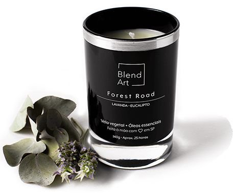 Blend Art Vela Vegetal Forest Road - Lavanda e Eucalipto 140g