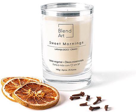 Blend Art Vela Vegetal Sweet Mornings - Laranja Doce e Cravo 140g