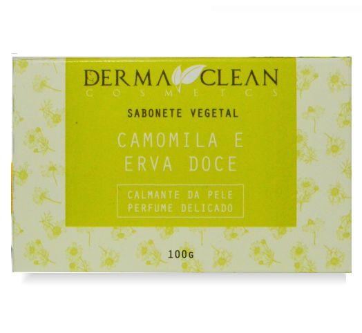 Derma Clean Sabonete Vegetal Camomila e Erva Doce 100g