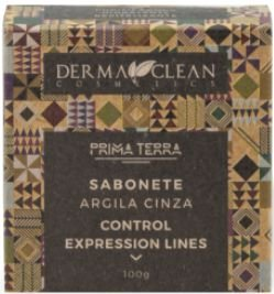Derma Clean Prima Terra Sabonete Argila Cinza - Control Expression Lines 100g