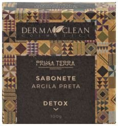 Derma Clean Prima Terra Sabonete Argila Preta - Detox 100g