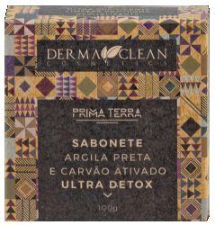 Derma Clean Prima Terra Sabonete Carvão Ativado e Argila Preta - Ultra Detox 100g