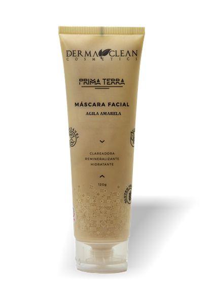 Derma Clean Prima Terra Máscara Facial Argila Dourada - Revitalize 120g