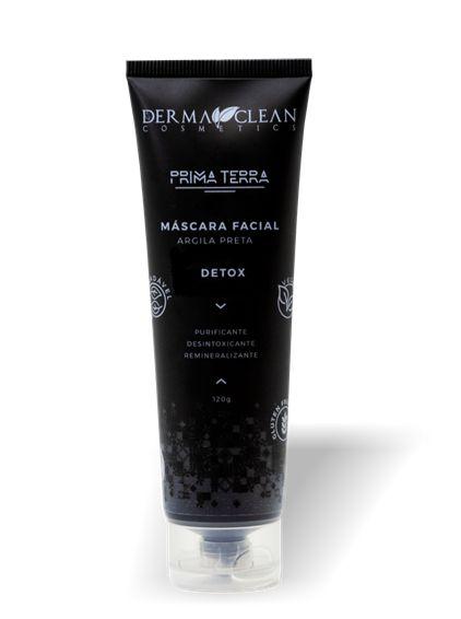 Derma Clean Prima Terra Máscara Facial Argila Preta - Detox 120g