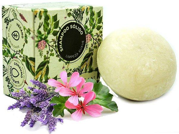 Derma Clean Shampoo Sólido Limpeza Suave com Lavanda, Laranja e Gerânio 80g