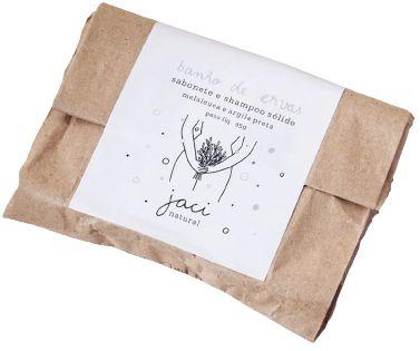 Jaci Natural Sabonete e Shampoo Sólido Banho de Ervas - Melaleuca e Argila Preta 95g