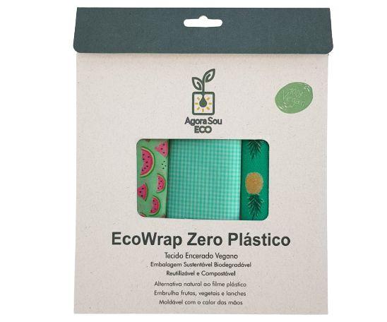 Agora Sou ECO EcoWrap Tecido Encerado Vegano Zero Plástico - Tamanho P 1un
