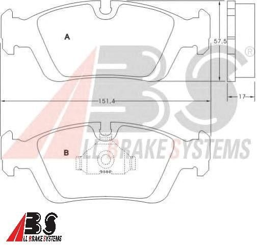 Pastilha de Freio Dianteiro BMW Série 3 E36/E46 - ABS