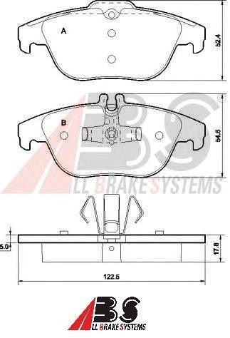 Pastilha de Freio Traseira Mercedes Classe C - ABS