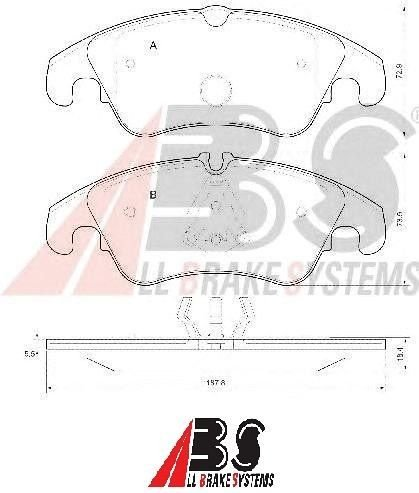 Pastilha de Freio Dianteira Audi A4/ A5/ Q5 188mm - All Brake Systems
