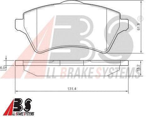 Pastilha de freio Dianteira Freelander - All Brake Systems