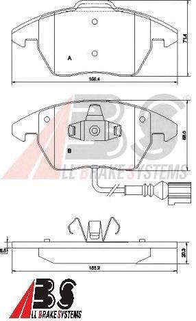 PASTILHA DE FREIO DIANTEIRA VW PASSAT FSI -All Brake Systems