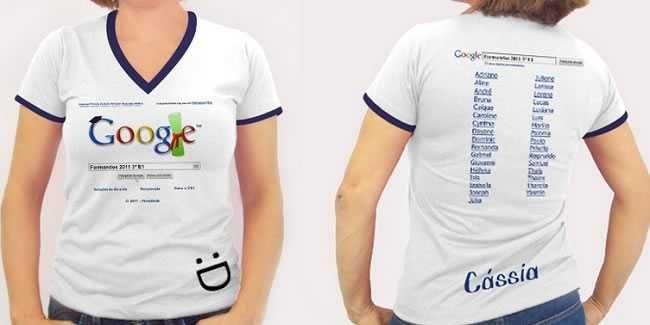 Camisetas Brancas Formandos Impressão Colorida P.M.G.GG