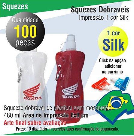 100 Squeeze Dobrável Personalizados