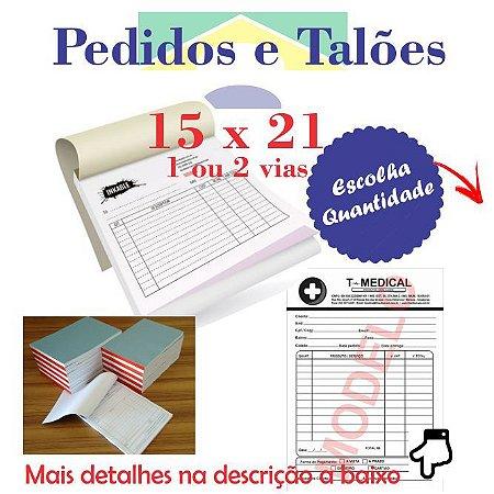 BLOCOS E TALÕES 100 FOLHAS 15x21 (1/2 Folha A4) MEDIO