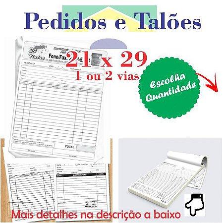 BLOCOS E TALÕES 100 FOLHAS 21x 29 (Tamanho A4) GRANDE