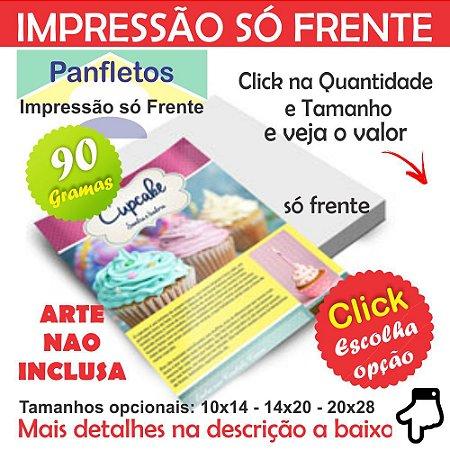 Panfleto Colorido Só Frente 4x0