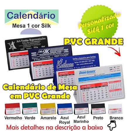 100 Calendário De Mesa Pvc Grande