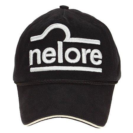 Boné Nelore - Preto C/ Branco