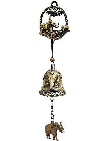 Sino de Porta Elefante em Metal
