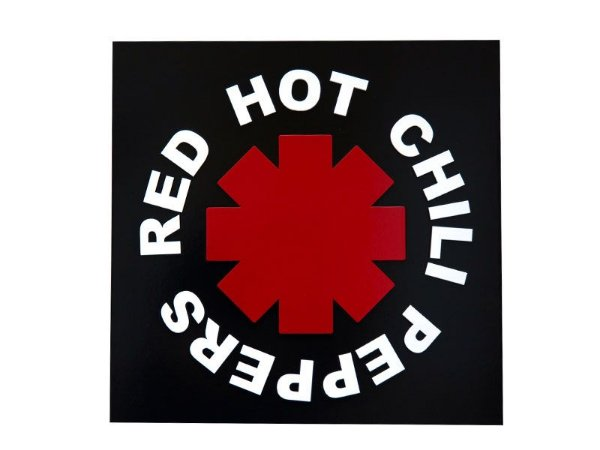 "Placa Decorativa ""Red Hot Chili Peppers"""