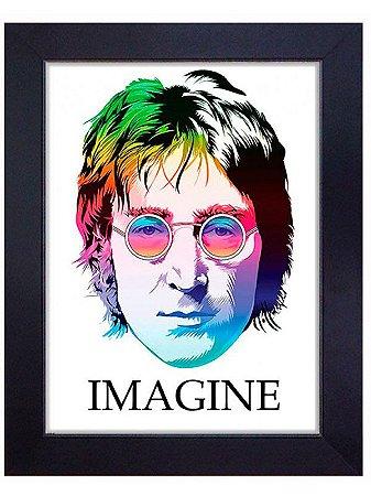"""Quadro Emoldurado """"Imagine"""" 55x75cm"""