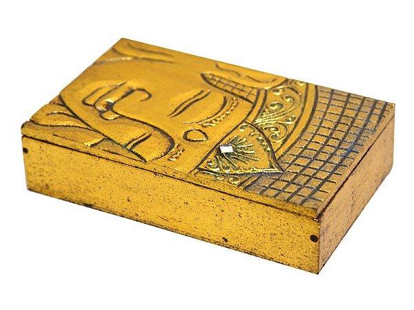 Caixa Decorativa Face Buda Gold