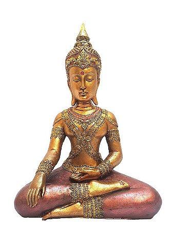 Escultura Buda Tailandês Meditando 40cm