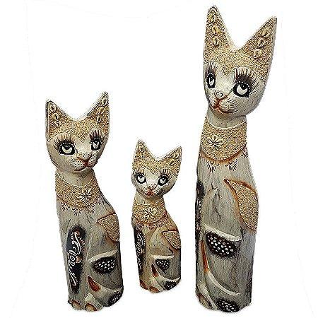 Trio de Gatos c/ Areia Jateada - Bali