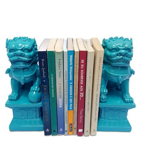 Esculturas Leões Fu Budistas - Azul