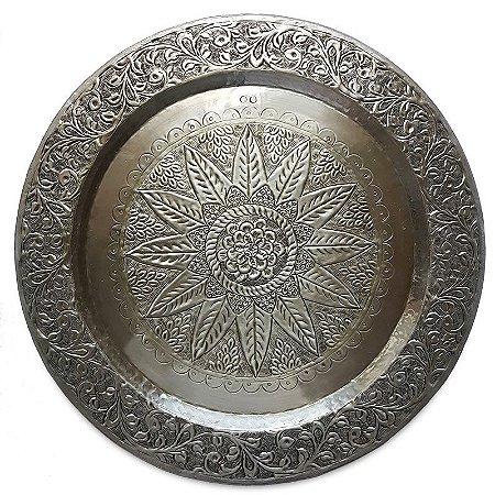 Mandala em Metal Prata - Indiana