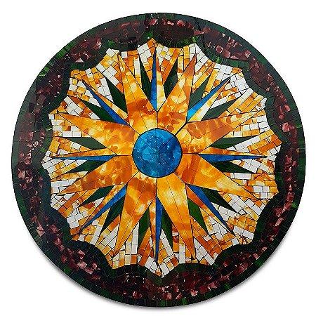 Mandala Colorida em Mosaico 60cm - Bali