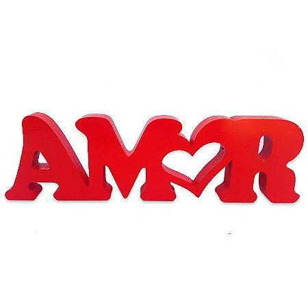 """Palavra em Mdf """"Amor"""""""