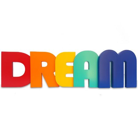 "Palavra Decorativa em Mdf ""Dream"""