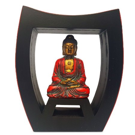 Porta-Velas Buda Meditando