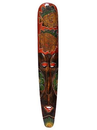 Máscara de Bali c/ Buda Esculpido