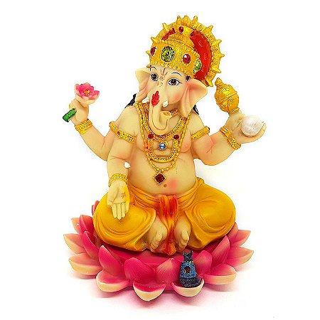 Estátua Deus Ganesh Colorido
