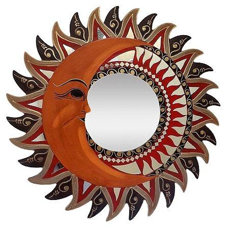 Mandala Espelhada Sol e Lua 60cm - Bali