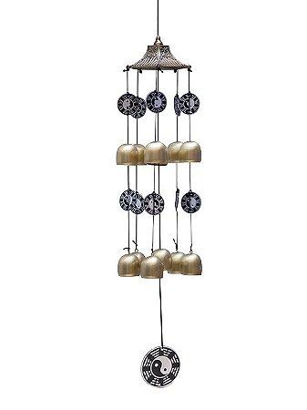 Sino dos Ventos Yin Yang 60cm - Mensageiro dos Ventos