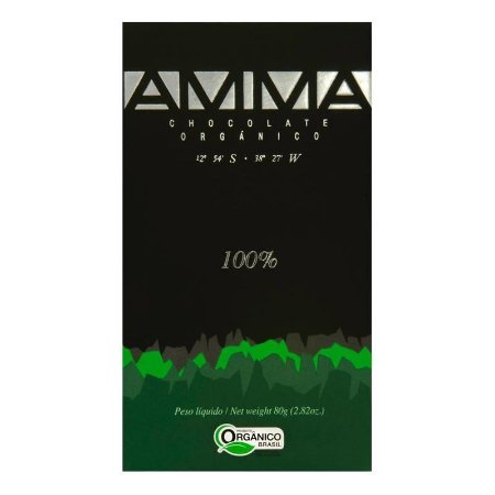 Chocolate Orgânico 100% Cacau - AMMA 80g