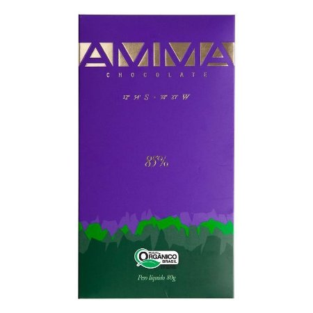Chocolate Orgânico 85% Cacau - AMMA 80g