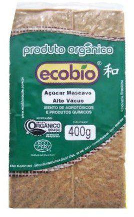 Açúcar Mascavo Orgânico Alto Vácuo Ecobio - 400g