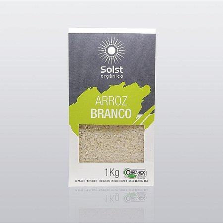 Arroz Longo Fino Branco Orgânico Alto Vácuo Solst - 1kg